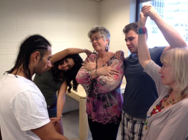Creative Workshop Group as living sculpture.